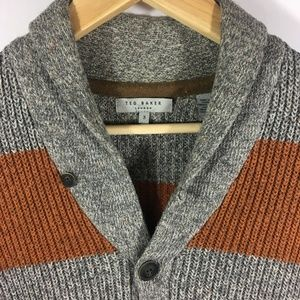 Ted Baker London Sweaters - Ted Baker London Men's Wool Knit Cardigan SMALL